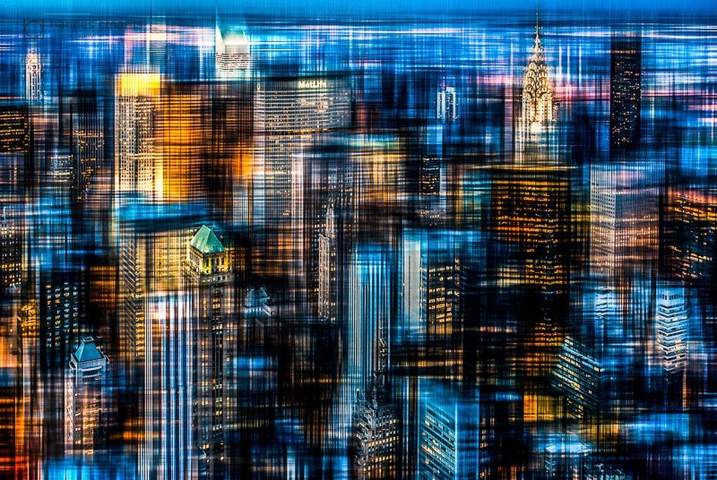 Manhattan downtown - abstact