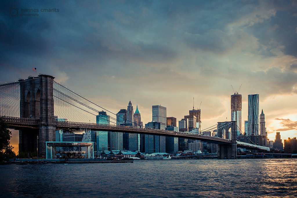 NYC skyline in the sunset v1