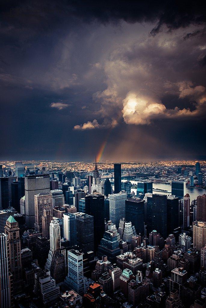 Great Skies over Manhattan - vintage