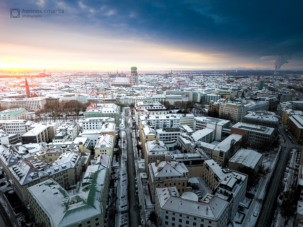 Munich - Sunrise at a winter day